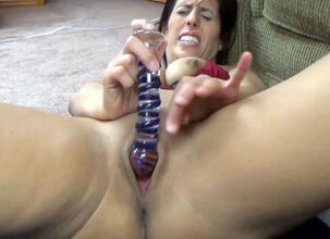Hot girl play with dildo