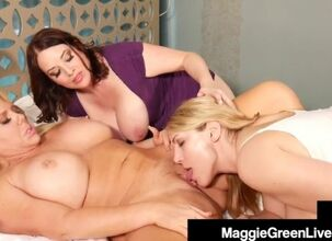 Mom daughter lesbian threesome